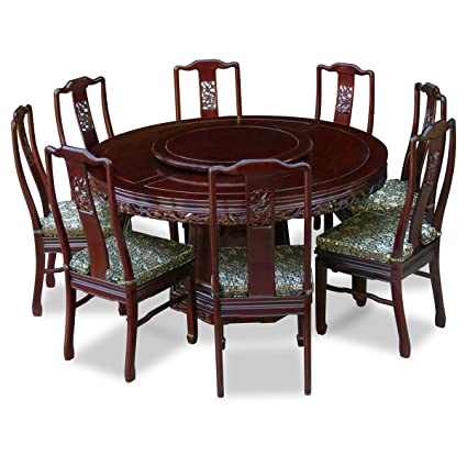 Amazon Com Chinafurnitureonline Hand Crafted 60in Rosewood Dragon