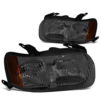 DNA Motoring HL-OH-019-SM-AM Pair of Headlight Assembly [01-04 Ford Escape]: Automotive