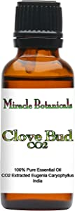 Miracle Botanicals CO2 Extracted Clove Bud Essential Oil - 100% Pure Eugenia Caryophyllata - Therapeutic Grade - 30ml