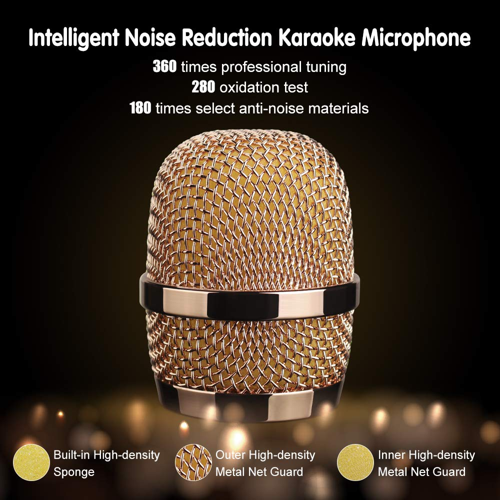 Leeron Karaoke Microphone, Kids Microphones Portable Handheld Wireless Bluetooth Karaoke Mic Machine for Home, Party, Birthday Gifts and Kids Girls Toys Age 5 6 7 8 9 by Leeron (Image #7)