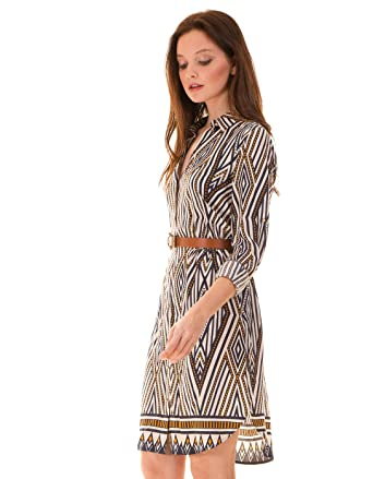 c4f96ed6348 Printed shirt dress Vinomad by Vila Clothes (S - Print): Amazon.co.uk:  Clothing