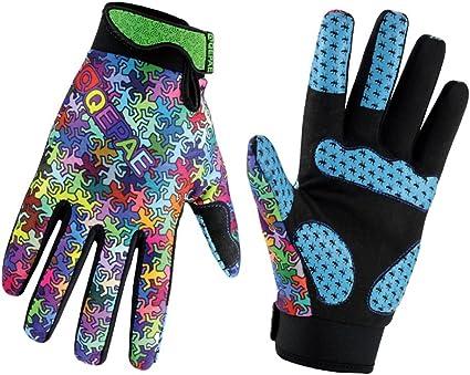 Qepae Full Finger Cycling Gloves Women/'s Gel Padded Bike Bicycle MTB Gloves S-XL