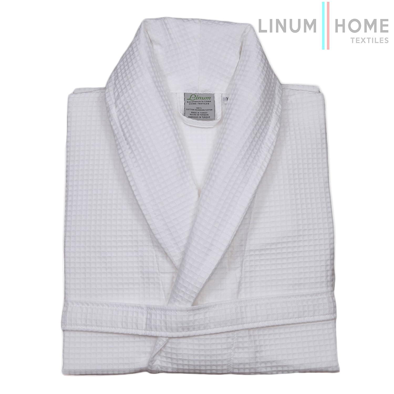 Amazon.com  Linum Home Textiles Unisex Waffle Weave Bathrobe 31dd43d4c