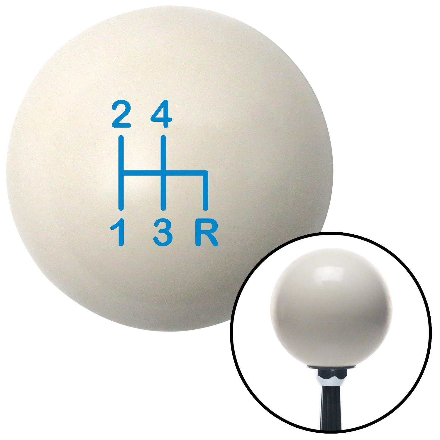 Blue Shift Pattern 1n American Shifter 76357 Ivory Shift Knob with M16 x 1.5 Insert
