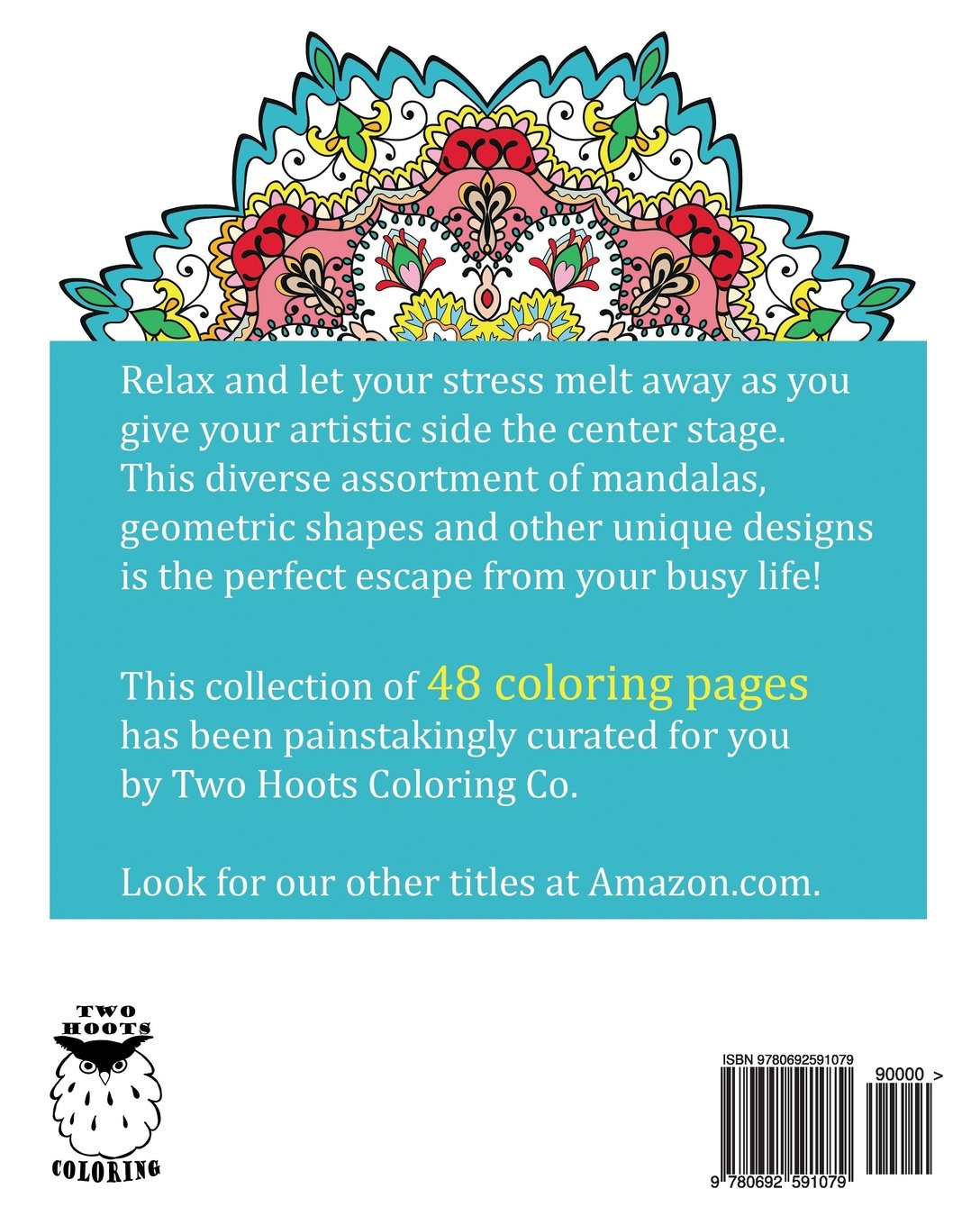 Adult Coloring Book: Designs: Two Hoots Coloring: 9780692591079 ...
