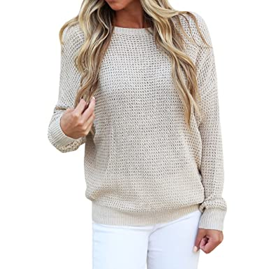 HWTOP Pullover Strickjacken für Damen Sweatshirts Oberteil
