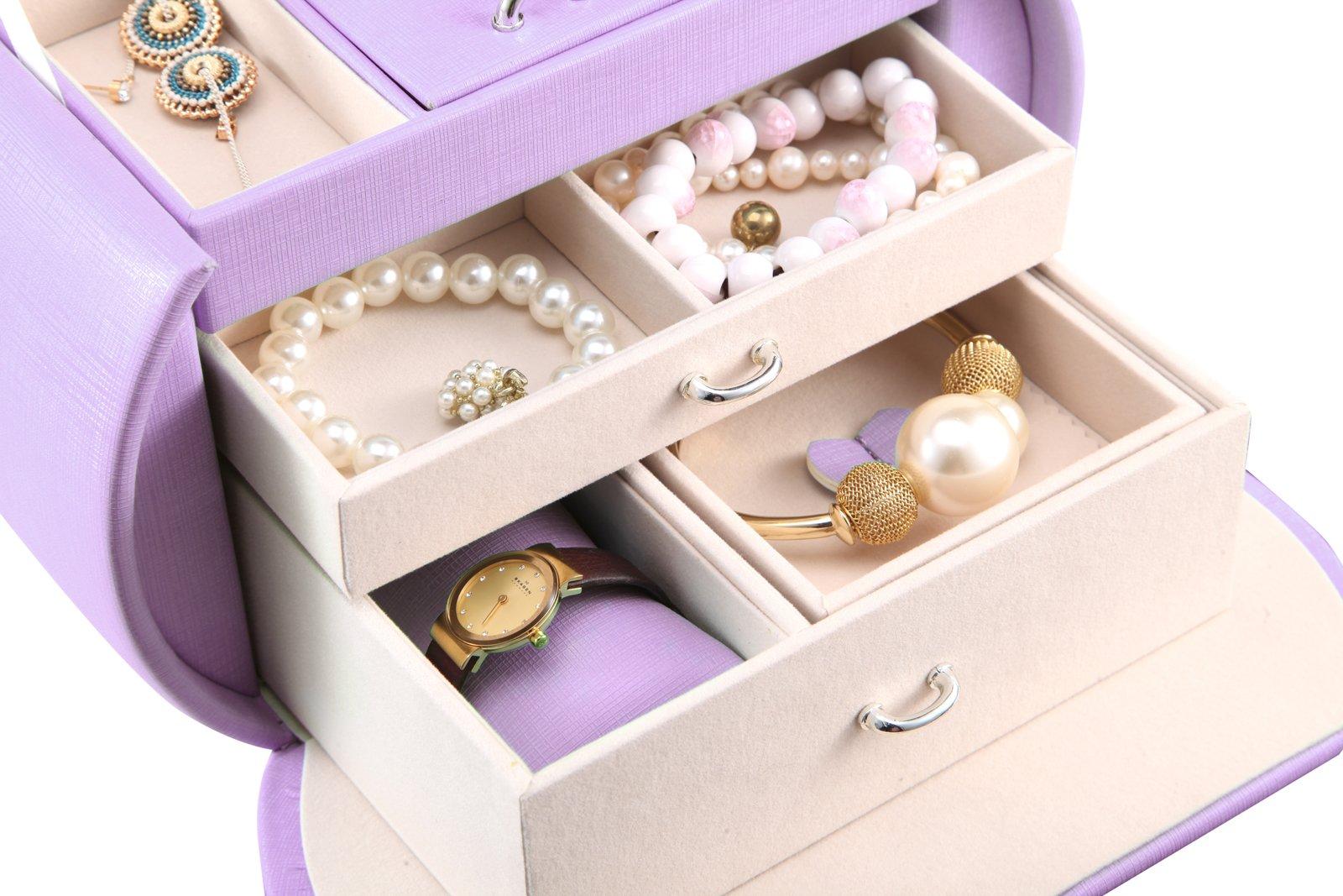 Vlando Princess Style Jewelry Box from Netherlands Design Team, Fabulous Christmas Gift for Girls (Purple) by Vlando (Image #6)