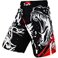 SUOTF Black Ink Style Domineering Screaming Fight MMA Fitness Breathable Shorts Boxing Tiger Muay Thai MMA Shorts