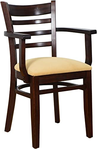 Beechwood Mountain BSD-5A-W Solid Beech Wood Kitchen and Dining Arm Chair