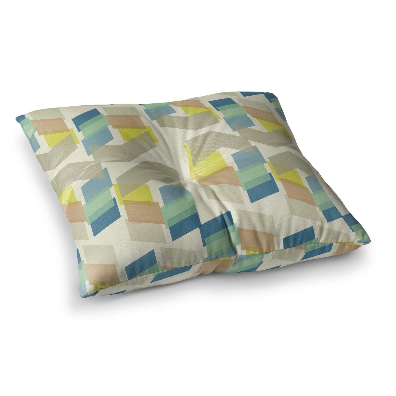 Kess InHouse Gukuuki Kobob Chevron Geometric Brown 23 x 23 Square Floor Pillow