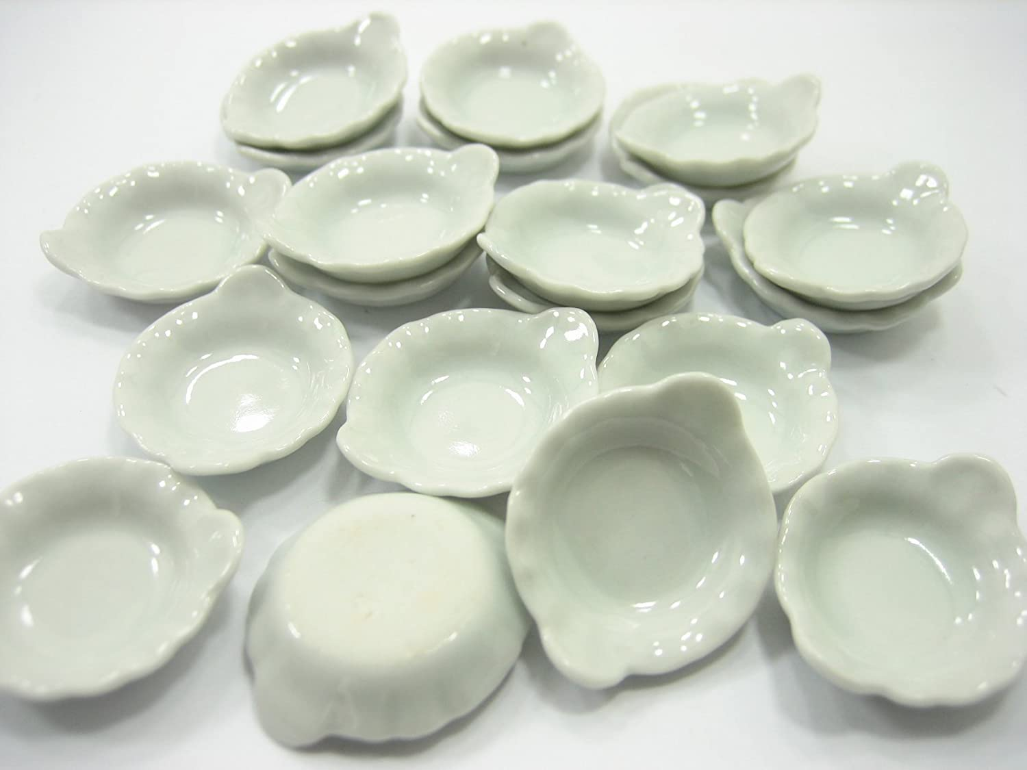 20x25 mm White Soup Bowl Dollhouse Miniatures Ceramic Food Supply 10075