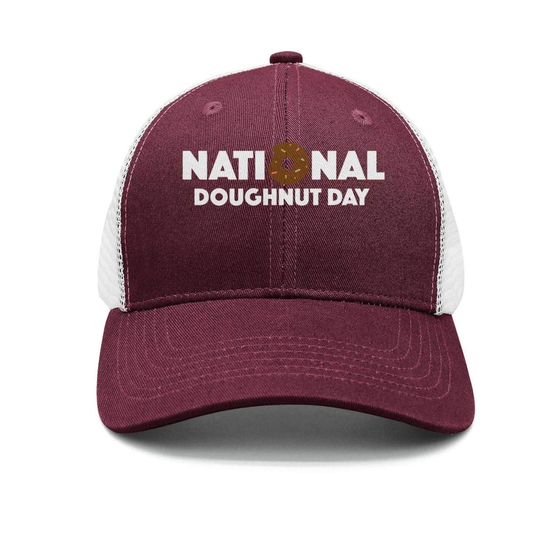 TopCrazy Sill Donuts Day Black and White Baseball Cap Men//Women Pattern Baseball Hats