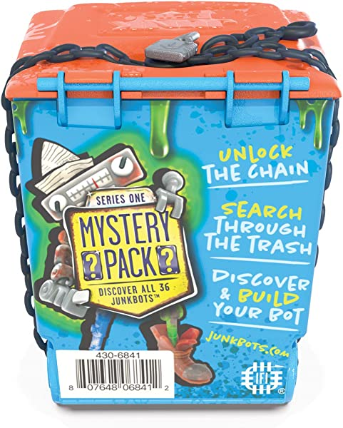 JUNKBOTS – Trash Bin Assortment Kit collectible surprise toy for kids