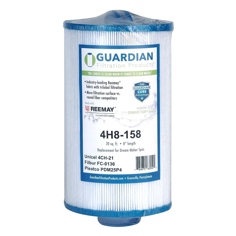 2 Guardian Pool Spa Filter Replaces PDM25P4 DREAM MAKER GATSBY SPA unicel 4CH-21 filbur FC-0136