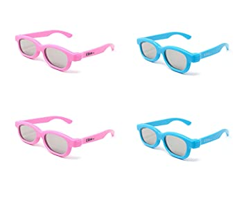 Ultra Pack Mixto de 2 Parejas Azules 2 Rosadas de Anteojos 3D ...