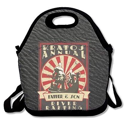 beb1838a7962 HihfuihoHIYD JoyRacka Custom 3D Printing Cover God-of-War KRA-TOS Handbag  Bento Bag/Lunch Box/Picnic Bag Zip & Handle