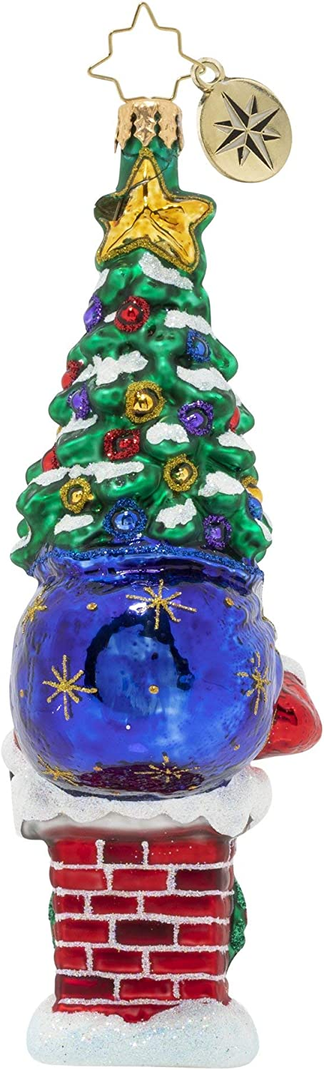 The Big Days Arrived! Christopher Radko Hand-Crafted European Glass Christmas Ornament
