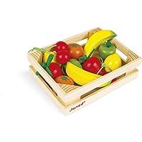 Janod - J05610 - Cagette de 12 fruits (bois)
