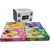 Japanese Mochi Variety Pack: Lychee, Blueberry, Hamimelon, and Mango in Fusion Select Gift Box