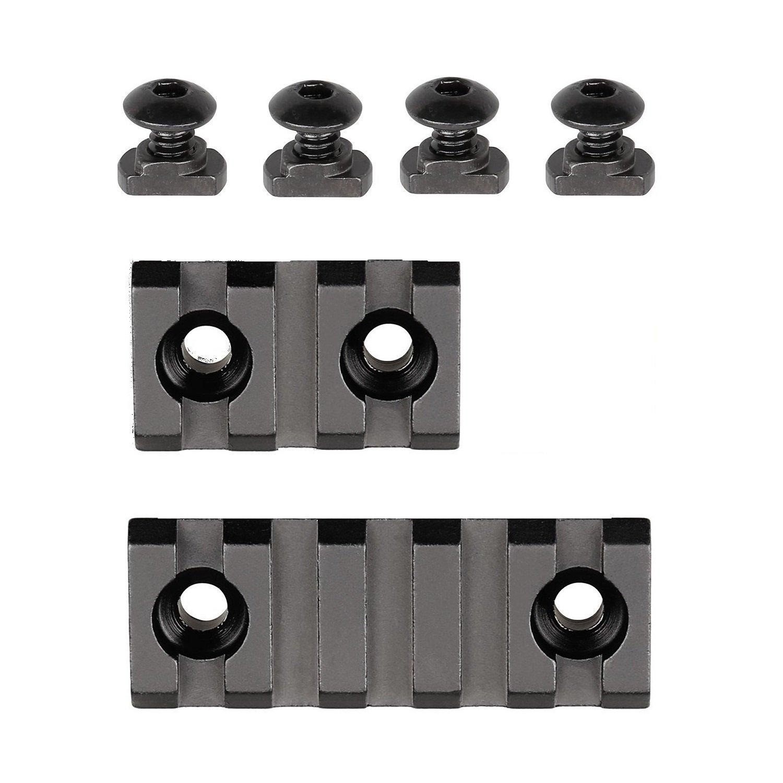 YYHJ Picatinny/Weaver Rail for M-LOK handguards, Aluminum alloy,3-slot,5-slot