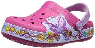 c6a0ce485059dd crocs Crocband Butterfly K Clog (Toddler Little Kid)