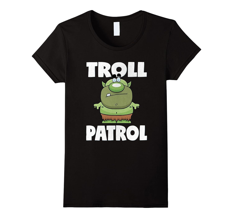 Womens Troll Vintage Retro T Shirt-Xalozy