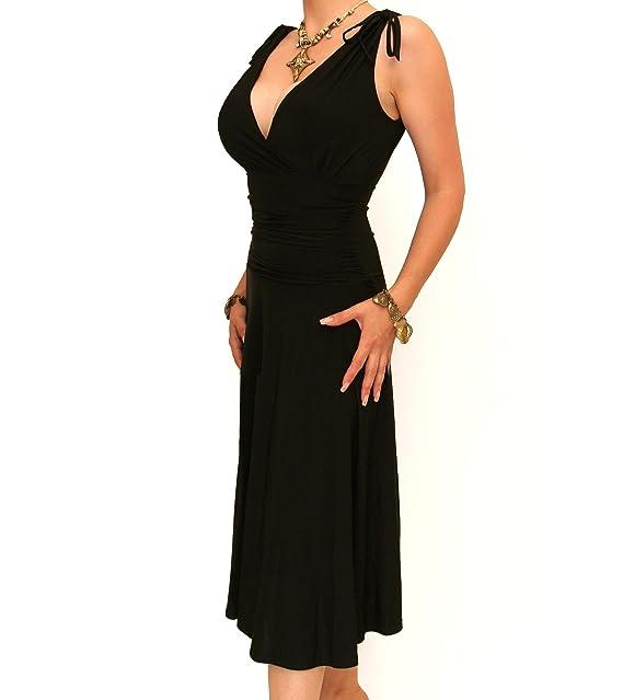 257cb7960d8 ... Halter Court Train Beaded Evening Prom Gowns Dresses. Blue Banana Womens  Grecian Slinky A Line Shift Dress  Amazon.co.uk