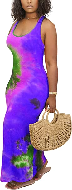 Plus Size Tie-dye Print Relaxed Fit Dress