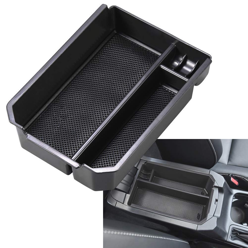 Amooca Car Center Console Armrest Box Glove Box Secondary Storage for 2012 2013 2014 2015 Toyota New RAV-4 RAV4