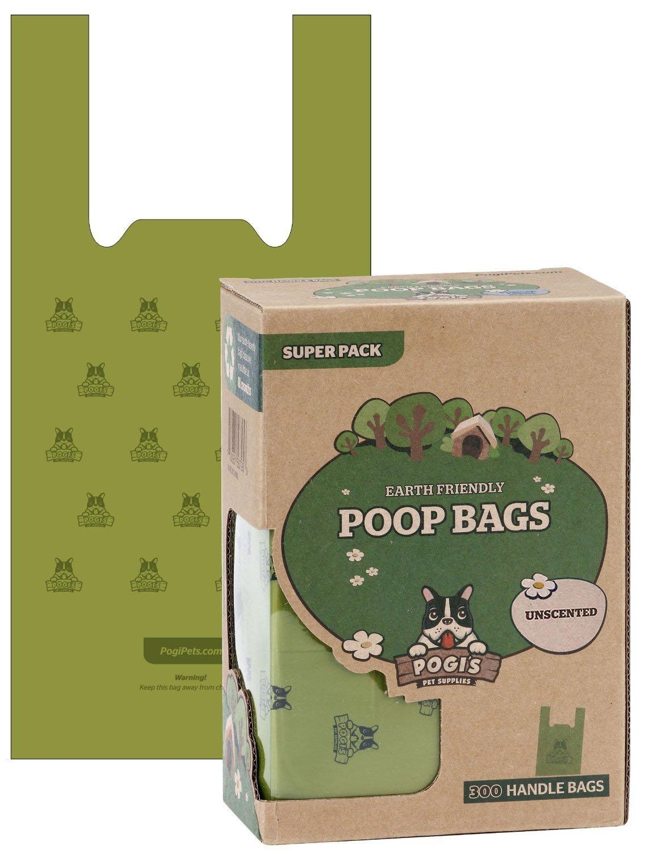 Pogi's Poop Bags - 300 Bolsas para excremento de Perro con manijas de Amarre fácil - Biodegradables, Perfumadas, Herméticas Pogi' s Pet Supplies -Parent