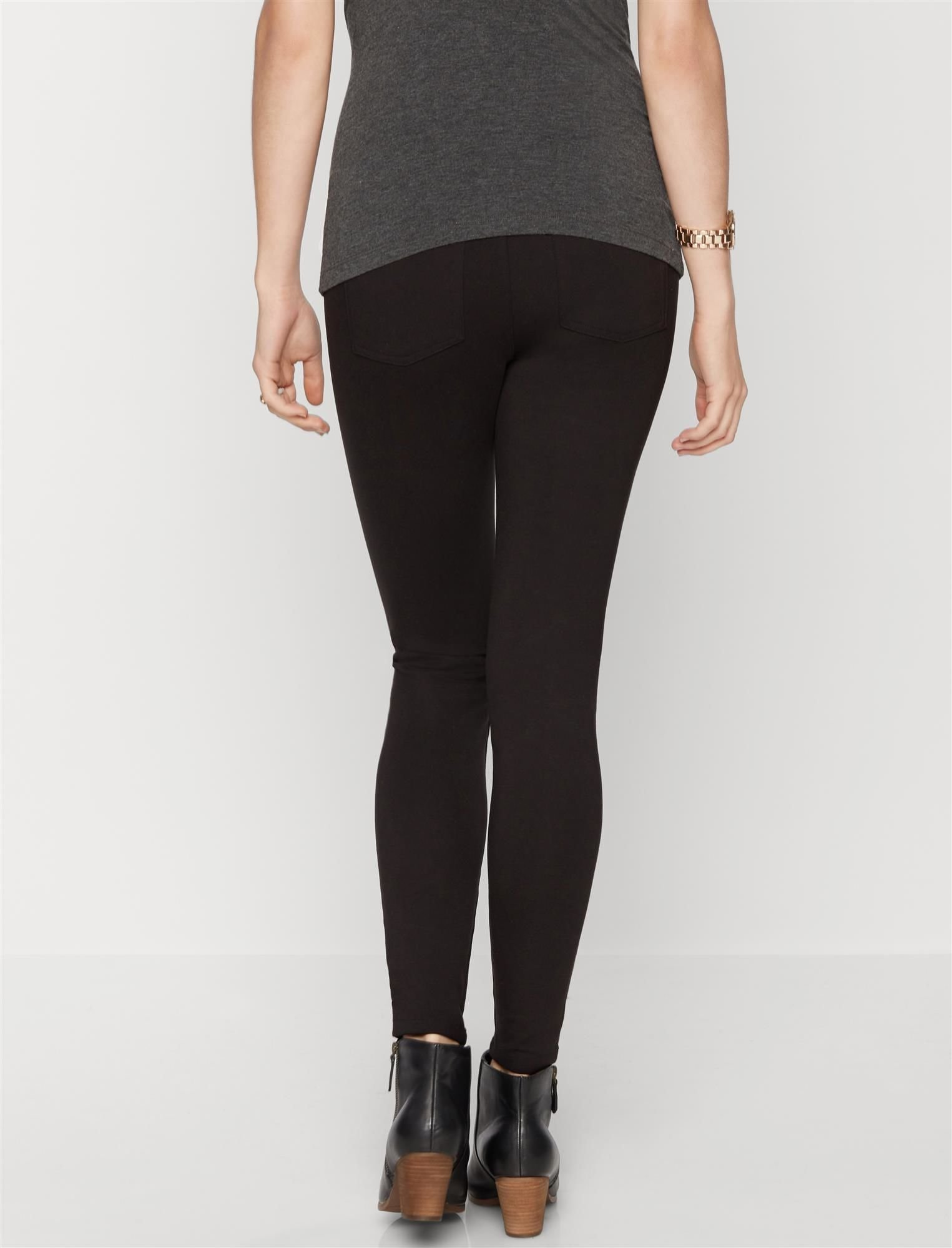 A Pea in the Pod Secret Fit Belly Ponte Skinny Maternity Pants by A Pea in the Pod (Image #3)