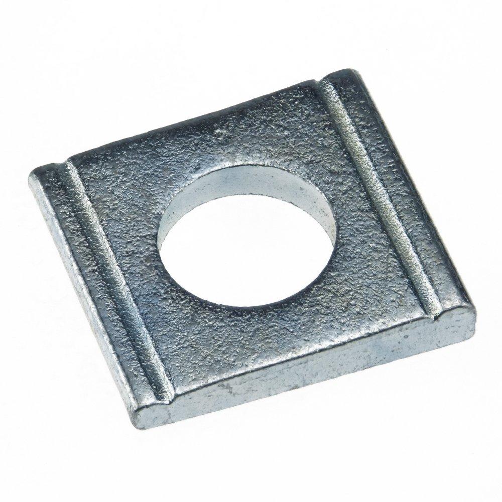 Scheibe DIN 434 Stahl gal verz. Ü H vierkant Neigung 8% keilfö rmig 17, 5 - 100 Stü ck SchraubenGigant