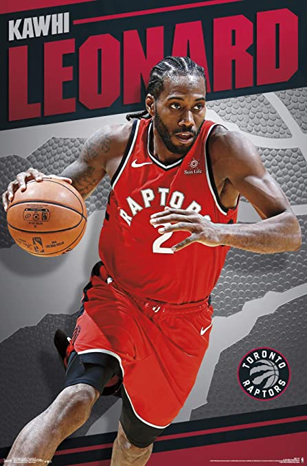 8416a255a Trends International Toronto Raptors - Kawhi Leonard Wall Poster  22.375 quot  ...