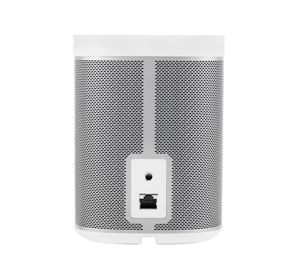 White Sonos PLAY:1 2-Room Wireless Smart Speakers for Streaming Music Starter Set Bundle