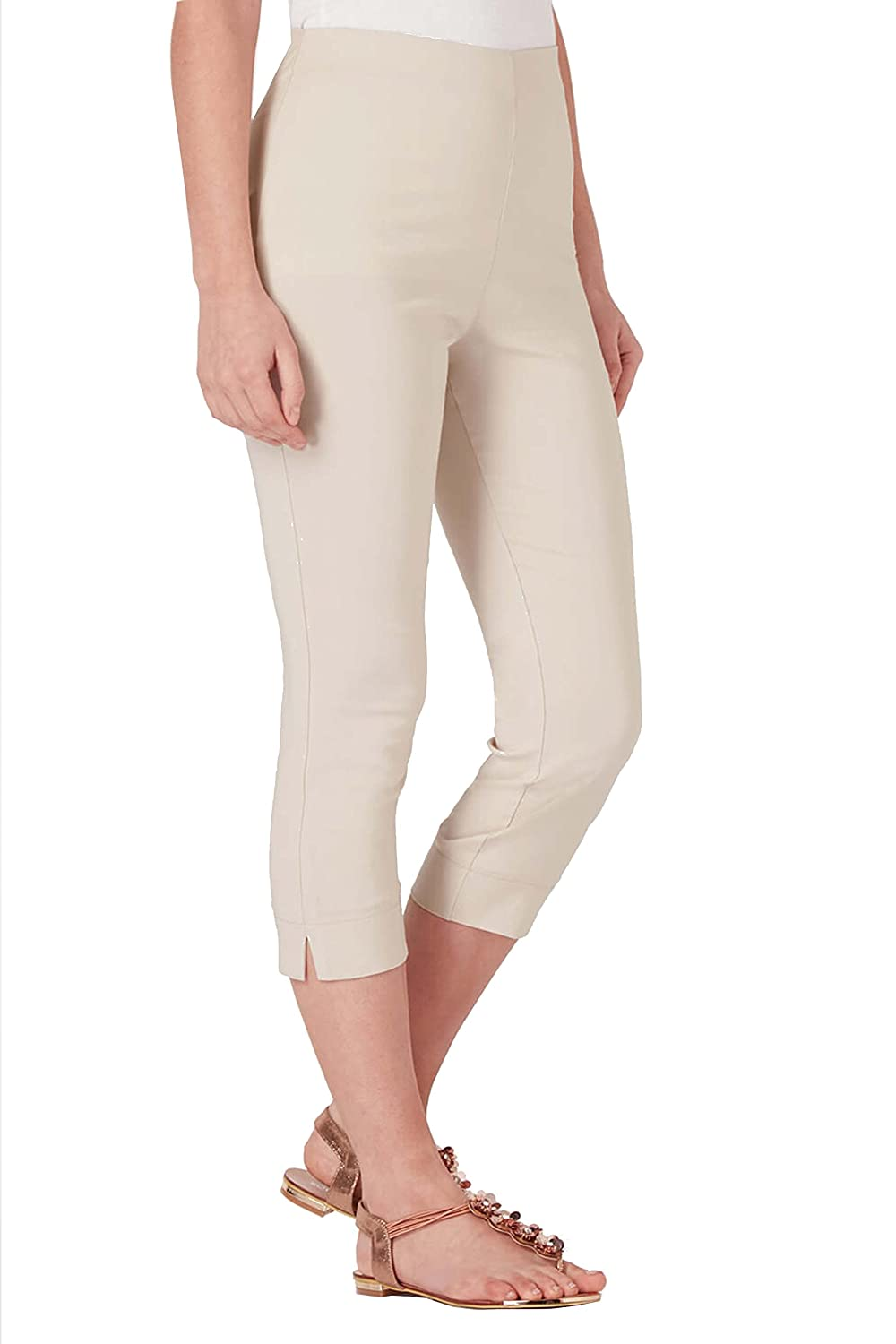 efde4c9e436 Roman Originals Women Cropped Stretch Bengaline Trousers - Ladies ...