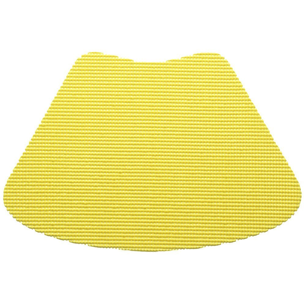 12 Piece Lemon Fishnet Placemat, Traditional Style, Lace Material, Solid Pattern, Wedge Shape, Machine washable, Perfect For Everyday, Fade Resistant And Durable, Light Yellow
