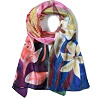 Invisible World Women's 100% Silk Scarf Hand Painted Various