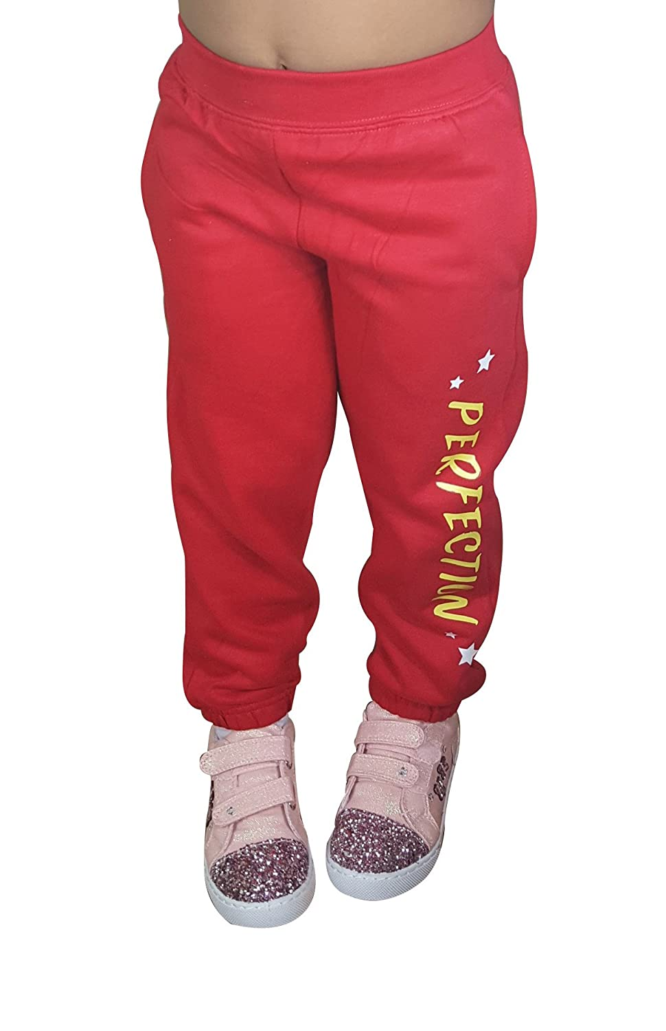James and Paul Kids Girls Designer Joggers Tracksuit Trousers Girls Sweatpants Bottoms Unisex Kids Jogging Bottoms Sizes Age 1-6 Years PE School Sports Pants