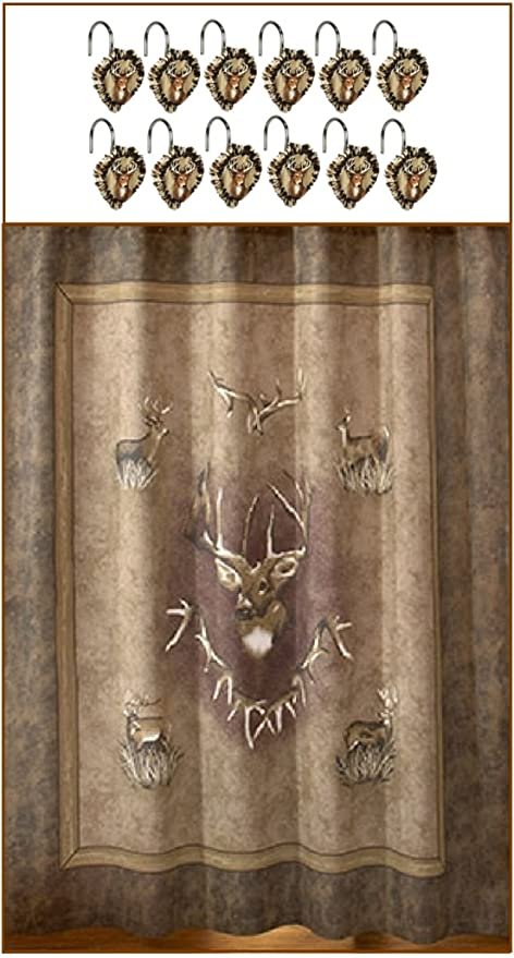 Image Unavailable Not Available For Color Whitetail Ridge Deer Scene Premium Shower Curtain