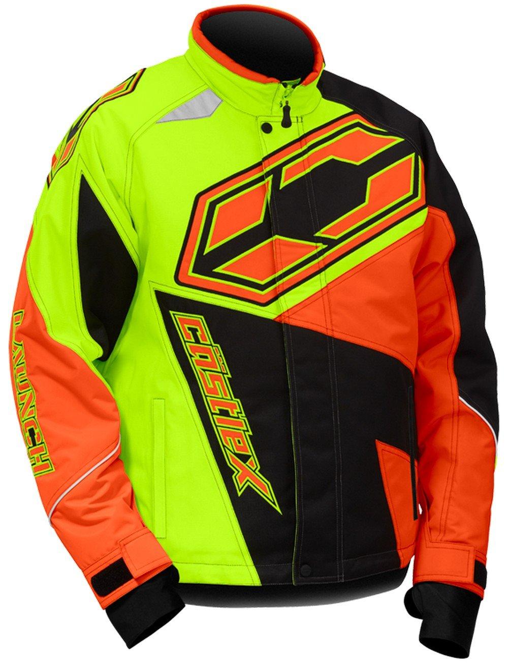 Castle X Launch SE G4 Youth Boys Snowmobile Jacket Hi-Vis/Orange LG by Castle X