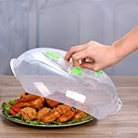 Microwave Plate Cover - Microwave Food Cover Anti-Splatter Plate Lid w/Steam Vents - Dishwasher Safe - 11.8 Inch
