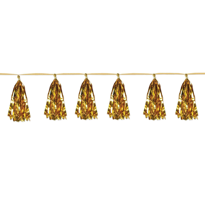 Die Beistle 59927-gd Metallischer Quaste garland44; 12 Stück