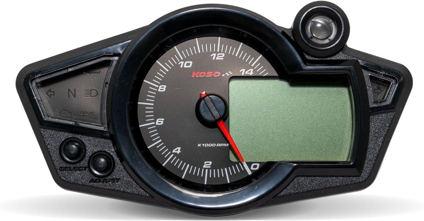 /écran tachym/étrique Blanc Cockpit RX1 N num/érique par KOSO /éclairage Bleu.