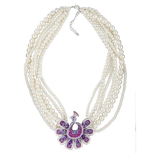 Janeo Jewellery Sets, Peacock, Snake & Swan Hombre Silver Rhodium colgante de plata,