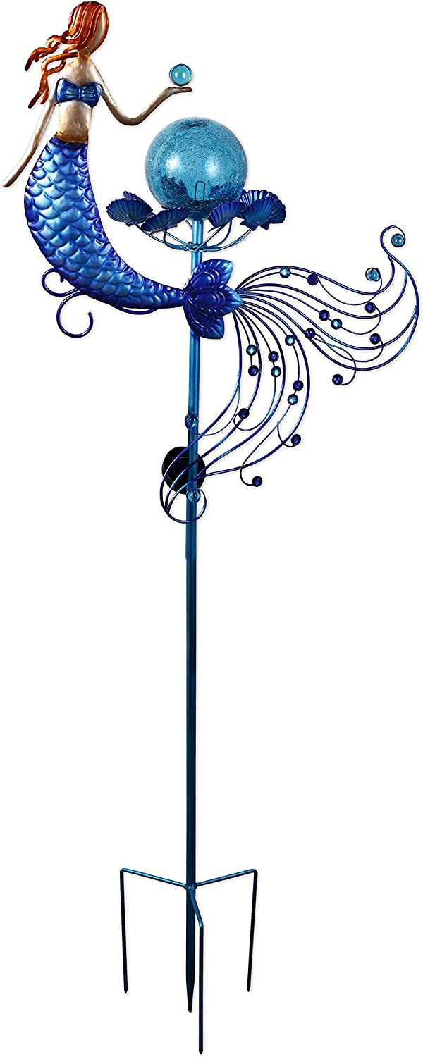 Sunset Vista 93472 Land and Sea Collections Solar Stake, Mermaid