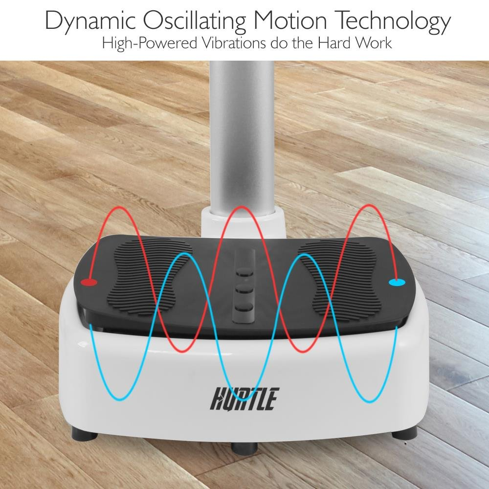 Standing Vibration Platform Exercise Machine - Revolutionary Equipment for Full Body Fitness Training - Digital LCD Display, Adjustable Settings Perfect for Weight Loss & Fat Burning - Pyle HURVBTR63 by Hurtle (Image #6)