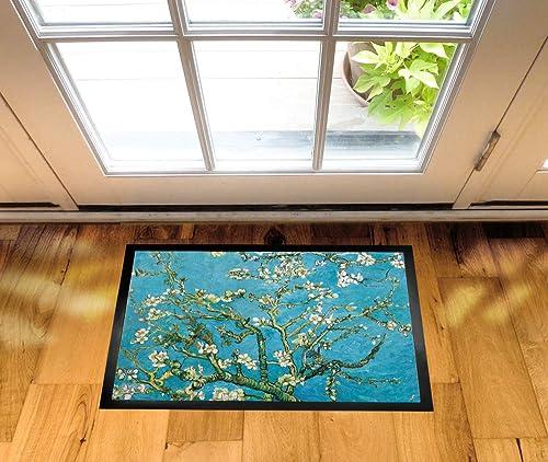 1art1 Vincent Van Gogh Door Mat Design Floor Mat – Almond Blossoms, 1890 28 x 20 inches