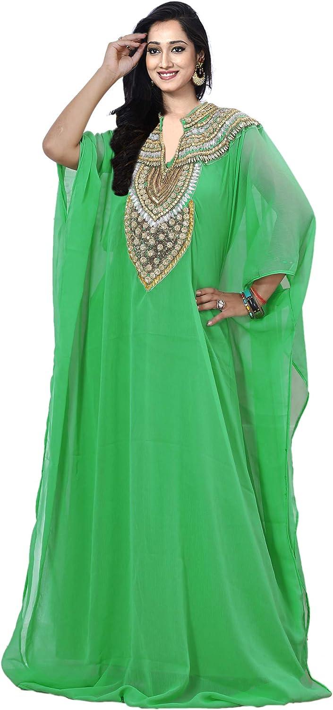 KoC Women wear Dubai Kaftan Farasha Long Maxi Dress Abaya Tunic top Bellydance
