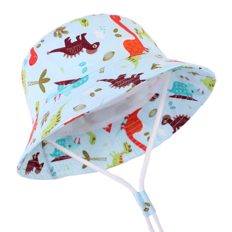 CAMLAKEE Bob B/éb/é Gar/çon Chapeau de Soleil Anti-UV /Ét/é en Coton Chapeau de Plage 1-8 ans