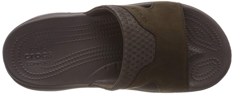 Crocs Swiftwater Leather Slide M Zapatos de Playa y Piscina para Hombre